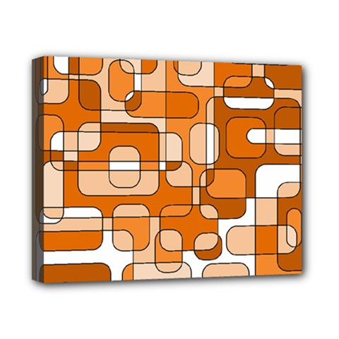 Orange Decorative Abstraction Canvas 10  X 8  by Valentinaart