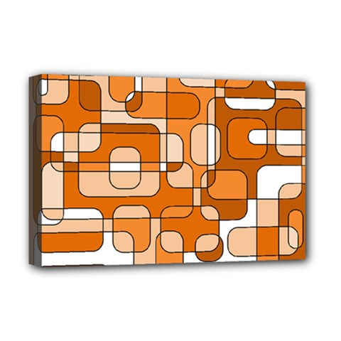 Orange Decorative Abstraction Deluxe Canvas 18  X 12   by Valentinaart