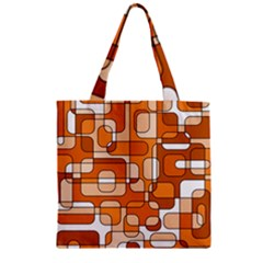 Orange Decorative Abstraction Zipper Grocery Tote Bag by Valentinaart