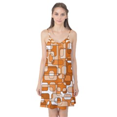 Orange decorative abstraction Camis Nightgown by Valentinaart