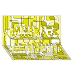 Yellow Decorative Abstraction Congrats Graduate 3d Greeting Card (8x4)  by Valentinaart