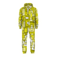 Yellow Decorative Abstraction Hooded Jumpsuit (kids) by Valentinaart