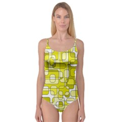 Yellow Decorative Abstraction Camisole Leotard  by Valentinaart