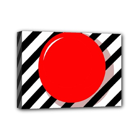 Red Ball Mini Canvas 7  X 5  by Valentinaart