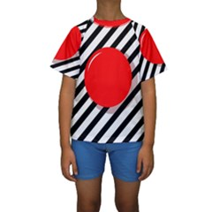 Red ball Kid s Short Sleeve Swimwear by Valentinaart