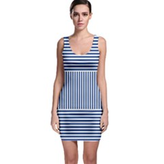 Nautical Striped Sleeveless Bodycon Dress by olgart