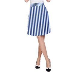Nautical Striped A Line Skirt by olgart