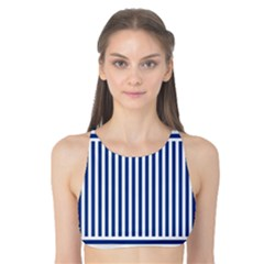 Nautical Striped Tank Bikini Top by olgart