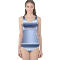 Nautical Striped One Piece Swimsuit by olgart