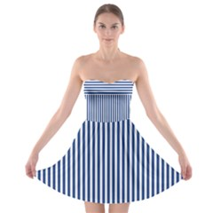 Nautical Striped Strapless Dresses by olgart