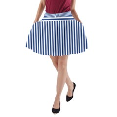 Nautical Striped A Line Pocket Skirt by olgart