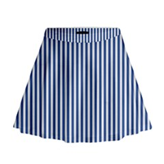 Nautical Striped Mini Flare Skirt by olgart