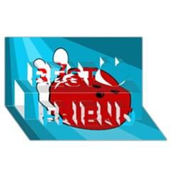 Bowling  Best Friends 3d Greeting Card (8x4)
