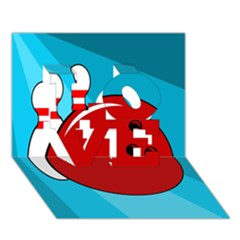 Bowling  Love 3d Greeting Card (7x5)  by Valentinaart