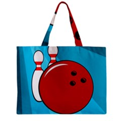Bowling  Mini Tote Bag by Valentinaart