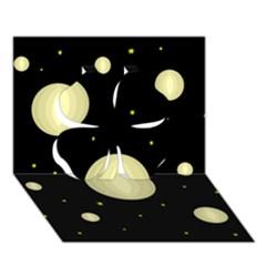 Lanterns Clover 3d Greeting Card (7x5)  by Valentinaart
