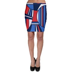 Abstract Nautical Bodycon Skirt by olgart