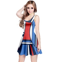 Abstract Nautical Reversible Sleeveless Dress by olgart