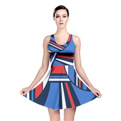 Abstract nautical Reversible Skater Dress by olgart