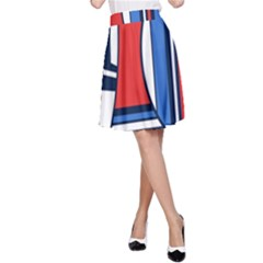 Abstract Nautical A Line Skirt by olgart
