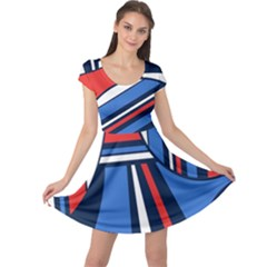 Abstract Nautical Cap Sleeve Dresses by olgart