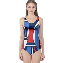 Abstract Nautical One Piece Swimsuit by olgart