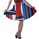 Abstract nautical A-line Skater Skirt