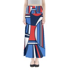 Abstract Nautical Maxi Skirts by olgart