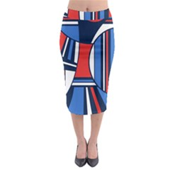Abstract Nautical Midi Pencil Skirt by olgart