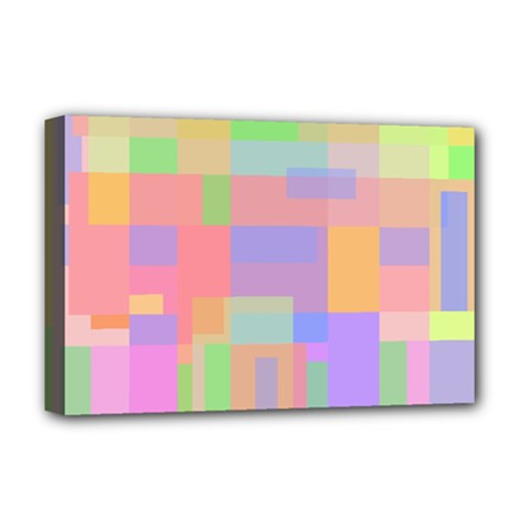 Pastel Decorative Design Deluxe Canvas 18  X 12   by Valentinaart
