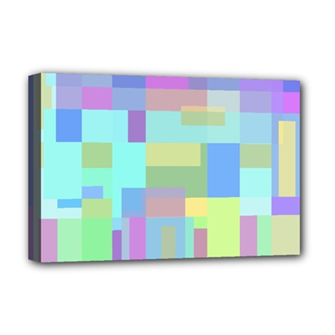 Pastel Geometrical Desing Deluxe Canvas 18  X 12   by Valentinaart