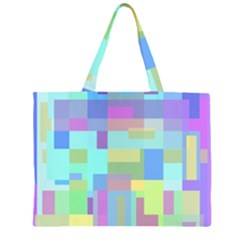Pastel Geometrical Desing Zipper Large Tote Bag by Valentinaart