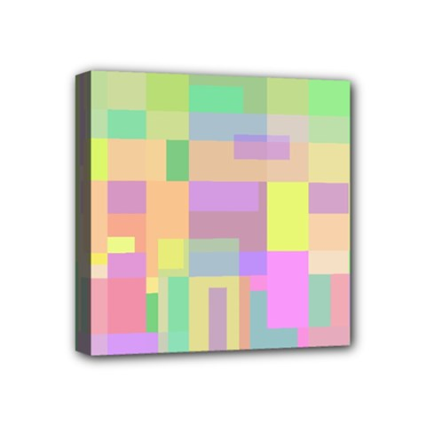 Pastel Colorful Design Mini Canvas 4  X 4  by Valentinaart