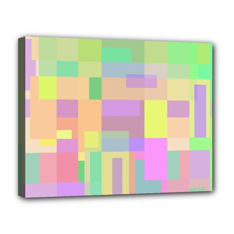 Pastel Colorful Design Canvas 14  X 11  by Valentinaart
