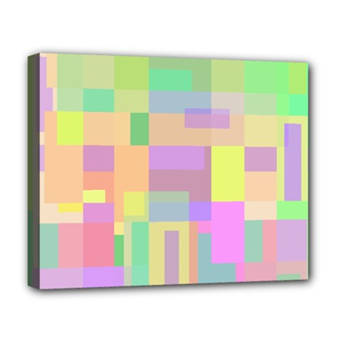 Pastel Colorful Design Deluxe Canvas 20  X 16   by Valentinaart