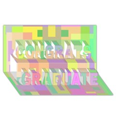Pastel Colorful Design Congrats Graduate 3d Greeting Card (8x4)  by Valentinaart