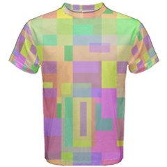 Pastel colorful design Men s Cotton Tee