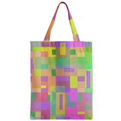 Pastel Colorful Design Zipper Classic Tote Bag by Valentinaart