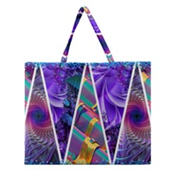 Pizap Com14534840917741 Zipper Large Tote Bag by jpcool1979