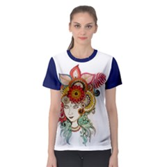 colorful artwork Women s Sport Mesh Tee by Contest2484531