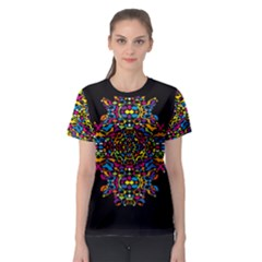 Stained glass pattern Women s Sport Mesh Tee by Contest2492222