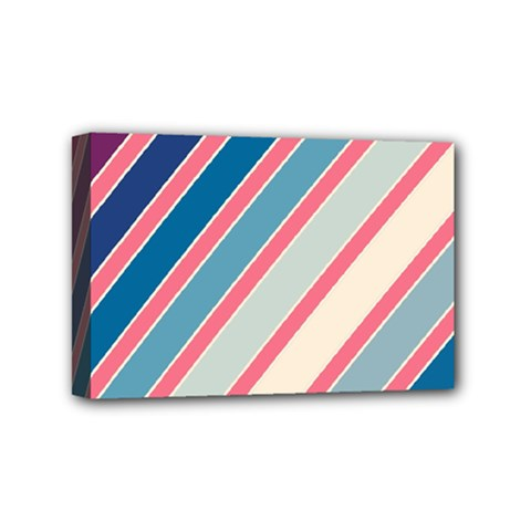 Colorful Lines Mini Canvas 6  X 4  by Valentinaart