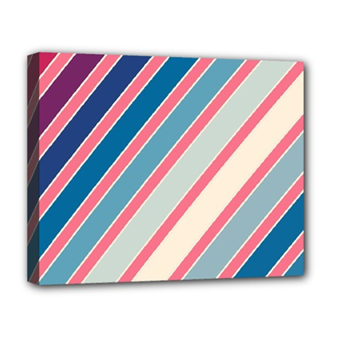 Colorful Lines Deluxe Canvas 20  X 16   by Valentinaart