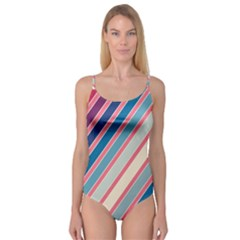 Colorful Lines Camisole Leotard  by Valentinaart