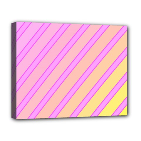 Pink And Yellow Elegant Design Deluxe Canvas 20  X 16   by Valentinaart