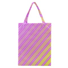 Pink And Yellow Elegant Design Classic Tote Bag by Valentinaart