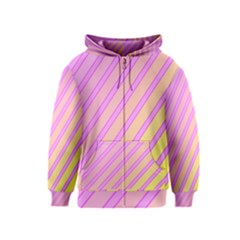 Pink and yellow elegant design Kids  Zipper Hoodie by Valentinaart