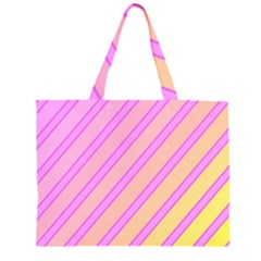 Pink And Yellow Elegant Design Zipper Large Tote Bag by Valentinaart