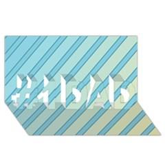 Blue Elegant Lines #1 Dad 3d Greeting Card (8x4)  by Valentinaart
