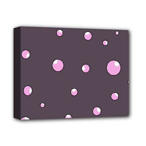 Pink Bubbles Deluxe Canvas 14  X 11  by Valentinaart